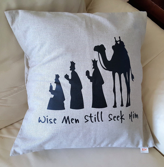 Holiday Pillow - The Wise Men - Love the Lord Inc
