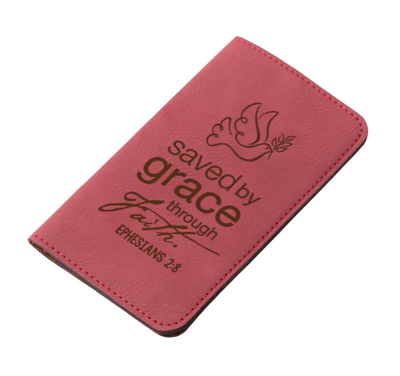 "Accessories - IPhone Wallet - ""Saved By Grace Through Faith"""