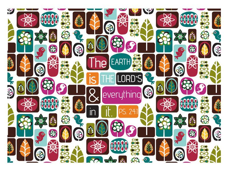 Laptop Skin - The Earth is the Lords - Love the Lord Inc
