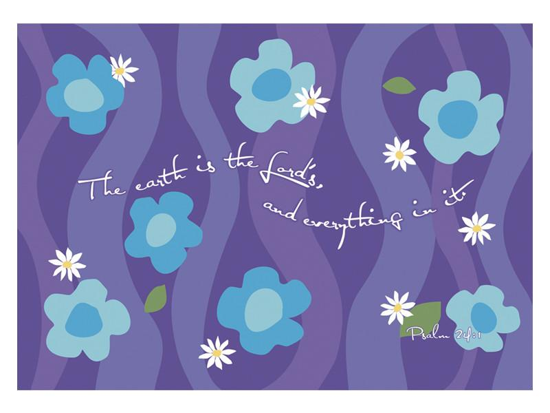 Laptop Skin - The earth is The Lords and everything in it (floral) - Love the Lord Inc