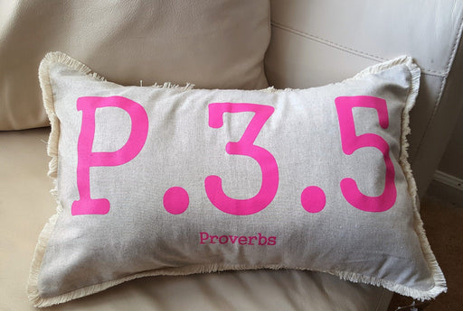 Lumbar Pillow - Proverbs 3:5 - Love the Lord Inc