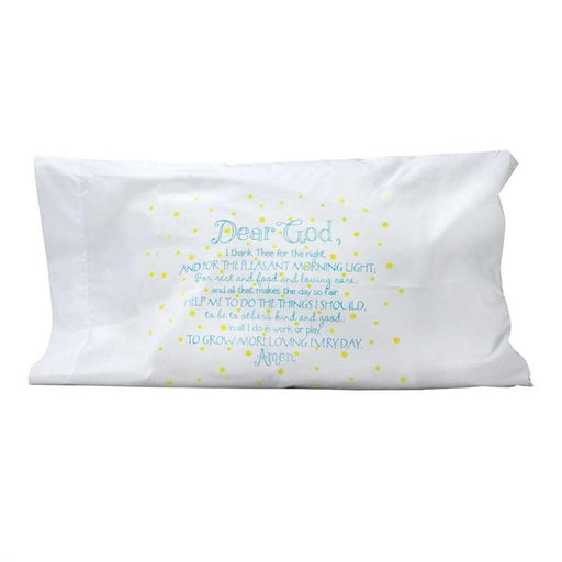 Pillow Case - Dear God, I Thank Thee (Blue) - Love the Lord Inc