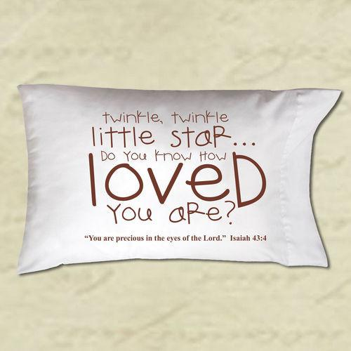 Pillow Case -Do You Know How Loved You Are? (Christian Gift) - Love the Lord Inc