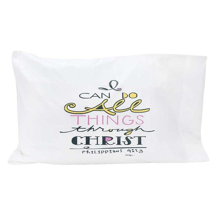 Pillow Case - I Can Do All Things Through Christ - Love the Lord Inc