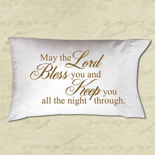 Pillow Case - May the Lord bless you and keep you - Love the Lord Inc