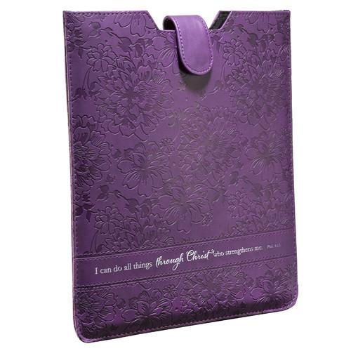 "Scripture gifts - Tablet Case Cover (""I Can Do All Things Through Christ"") - Love the Lord Inc"