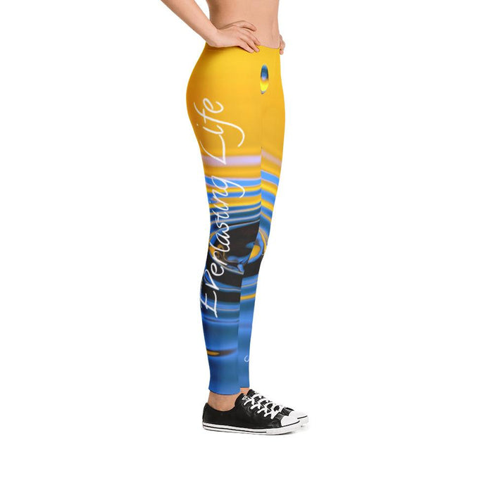 Scripture Leggings - Water and Everlasting Life (John 4:14) - Love the Lord Inc