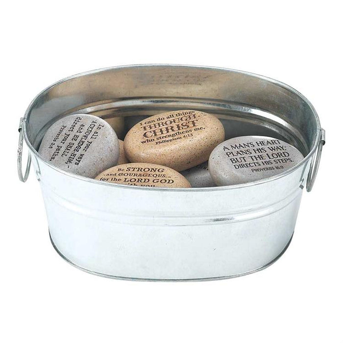 Scripture Rocks - A Pail of Rocks with Scriptures - Love the Lord Inc