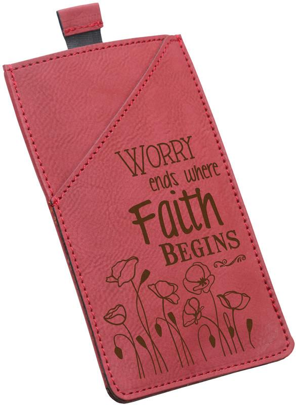 "Smartphone Case - ""Worry Ends Where Faith Begins"" - Love the Lord Inc"