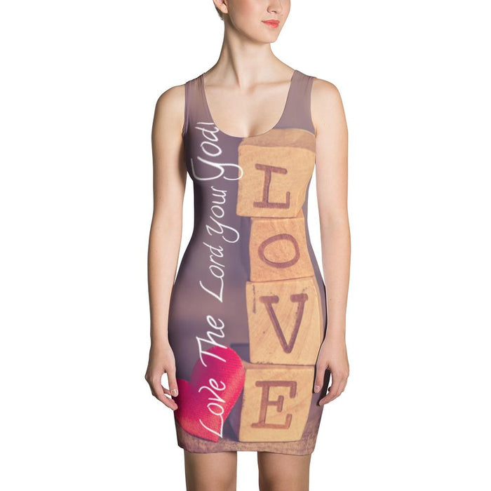 Sublimation Cut & Sew Dress - Love The Lord Thy God - Love the Lord Inc