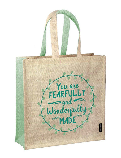 Tote Bag - Fearfully and Wonderfully made - Love the Lord Inc