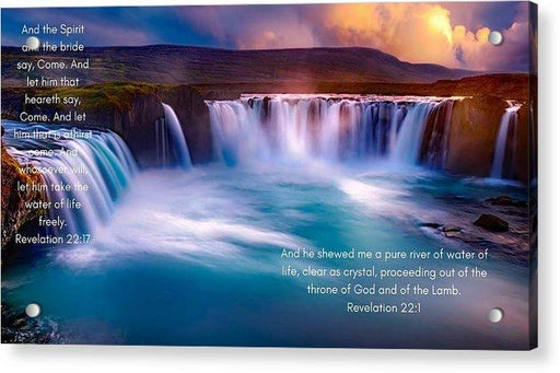 River Of Life - Acrylic Print - Love the Lord Inc