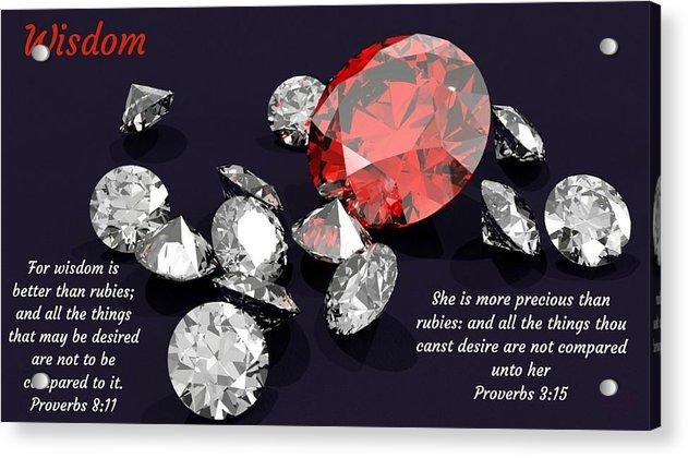 Wisdom Rubies And Proverbs - Acrylic Print - Love the Lord Inc