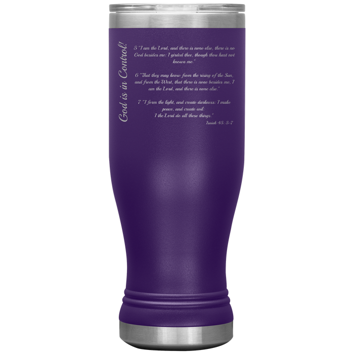 God is in Control (Isa 45) - 20ozBOHO Tumbler - Love the Lord Inc