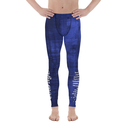Men's Leggings - Courage (Blue) - Love the Lord Inc