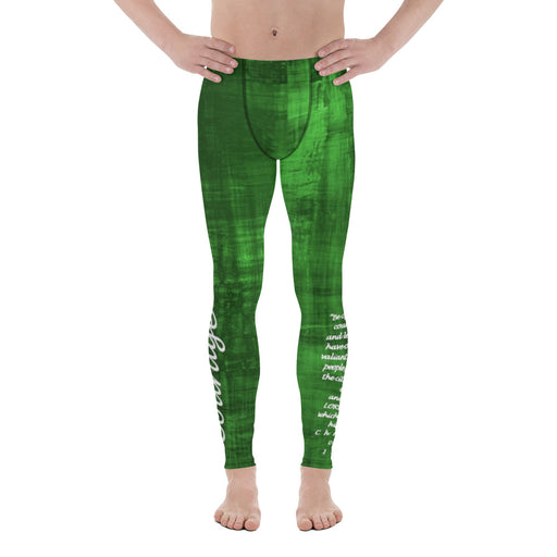 Men's Leggings - Courage (Green) - Love the Lord Inc