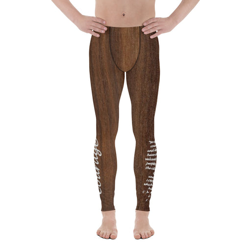 Men's Leggings - Courage (Woodgrain) - Love the Lord Inc