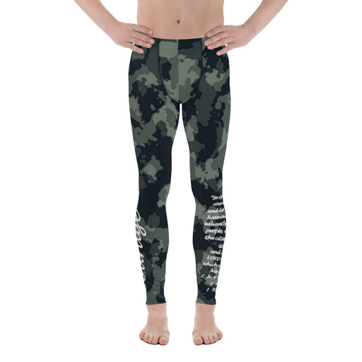Men's Leggings - Courage (Camo) - Love the Lord Inc