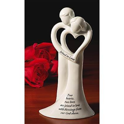 Wedding Gift - Loving Couple Figurine Bell - Love the Lord Inc