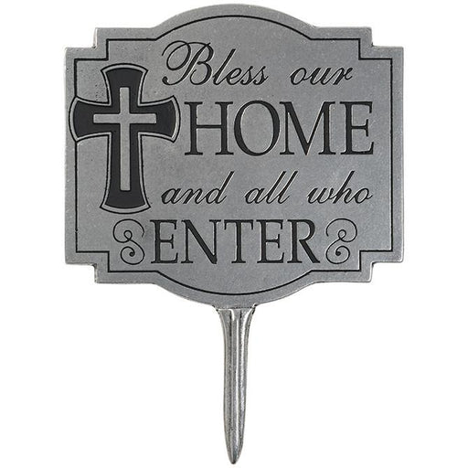 "Garden Stake - ""Bless Our Home"" Garden Stake - Love the Lord Inc"