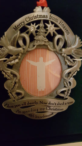 Art/Sculpture - Memorial Gift Photo Ornament - Merry Christmas..I'm Spending Christmas With Jesus This Year