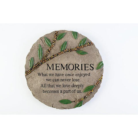 "Art/Sculpture - Memory Gift - Garden Stone ""All That We Love Deeply"""