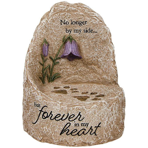 "Art/Sculpture - Memory Gift - Our Heart"" Heavenly Lights LED Message Stone"