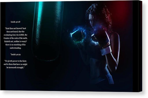 Bag Work - He Gives Power - Canvas Print - Love the Lord Inc