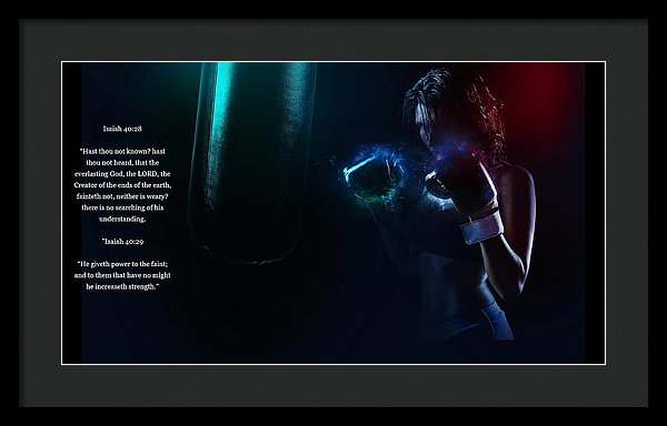 Bag Work - He Gives Power - Framed Print - Love the Lord Inc