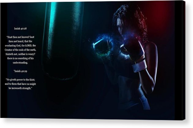 Bag Work - He Gives Power - Acrylic Print - Love the Lord Inc