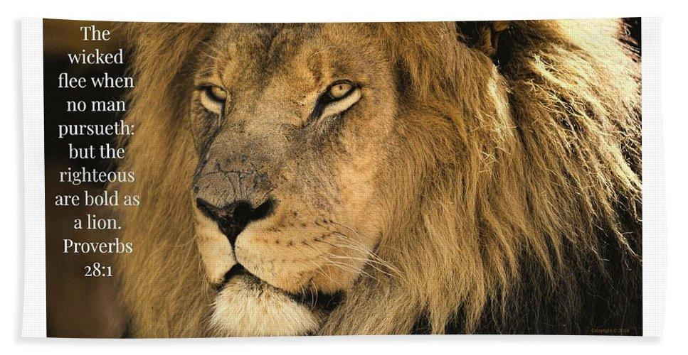 Bold As A Lion - Beach Towel - Love the Lord Inc