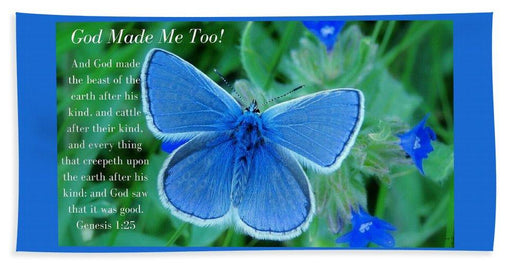 God Made Me Too Bf2 - Beach Towel - Love the Lord Inc