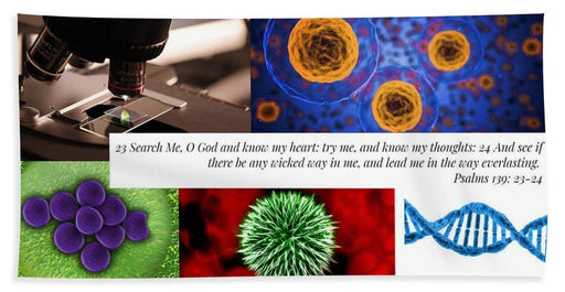 Search Me Oh Lord - Microscope - Beach Towel - Love the Lord Inc