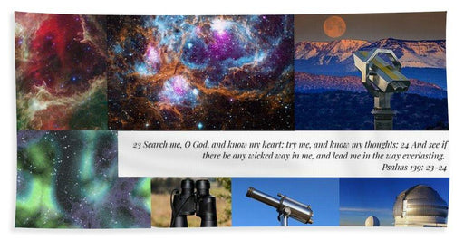 Search Me Oh Lord - Telescope - Beach Towel - Love the Lord Inc