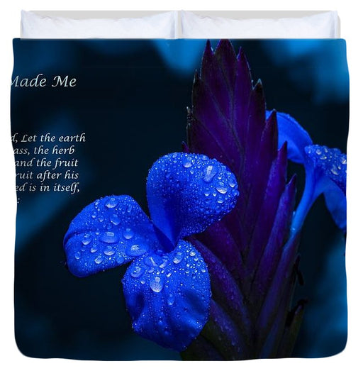 Beautiful Blue - God Made Me Too - Duvet Cover - Love the Lord Inc