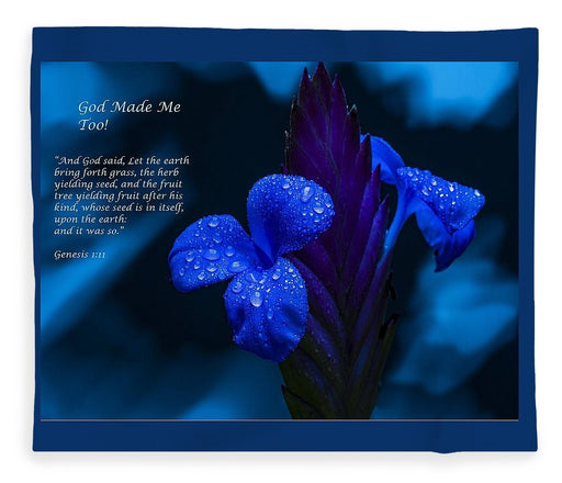 Beautiful Blue - God Made Me Too - Blanket - Love the Lord Inc