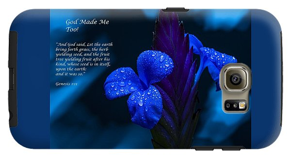 Beautiful Blue - God Made Me Too - Phone Case - Love the Lord Inc