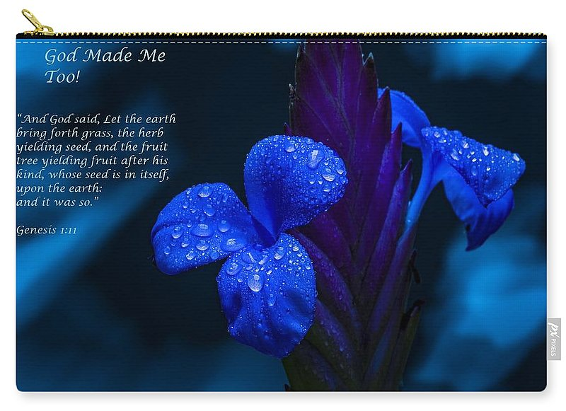Beautiful Blue - God Made Me Too - Carry-All Pouch - Love the Lord Inc