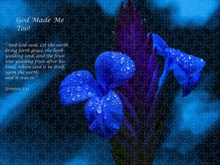 Beautiful Blue - God Made Me Too - Puzzle - Love the Lord Inc