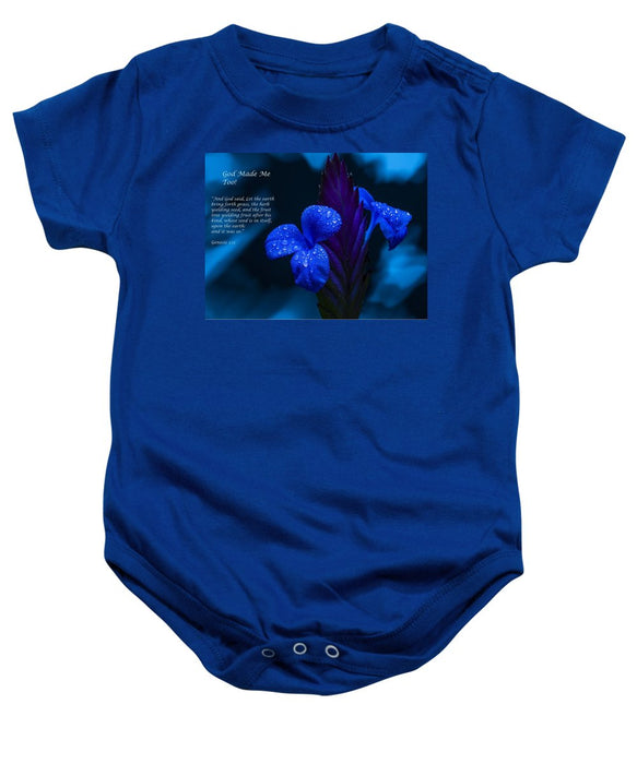 Beautiful Blue - God Made Me Too - Baby Onesie - Love the Lord Inc