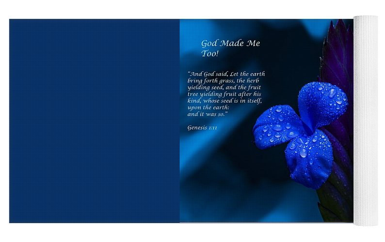 Beautiful Blue - God Made Me Too - Yoga Mat - Love the Lord Inc