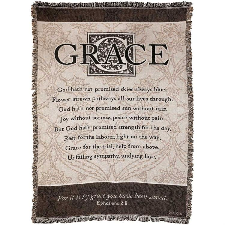 "Throws - Grace ""It Is By Grace You Have Been Saved"" - Love the Lord Inc"