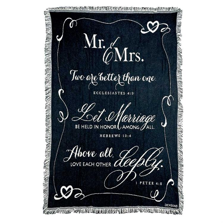 "Throws - Mr & Mrs ""Two Are Better Than One"" - Love the Lord Inc"