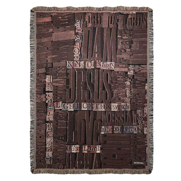 Throws - Names of Jesus (Tapestry) - Love the Lord Inc