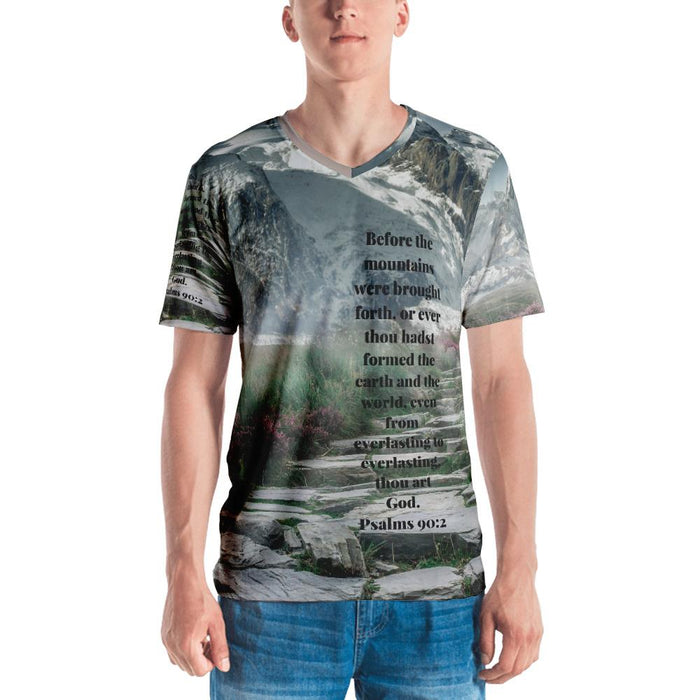 Before The Mountains - Men's All Around T-shirt - Love the Lord Inc