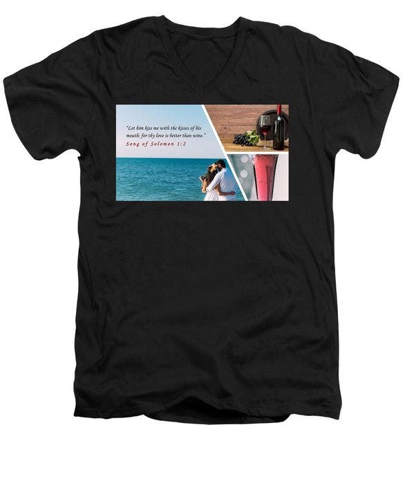 Better Than Wine - Men's V-Neck T-Shirt - Love the Lord Inc