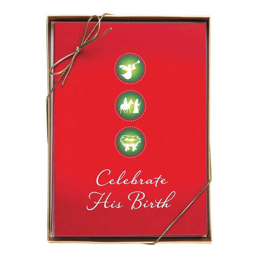 Christmas Card - Celebrate His Birth - Love the Lord Inc