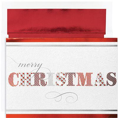 Christmas Card - Merry Christmas Pattern - Love the Lord Inc