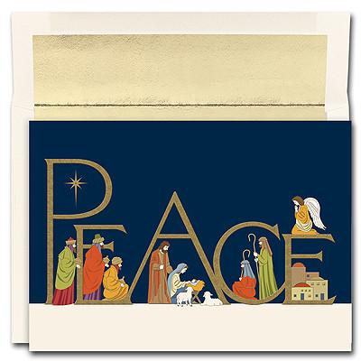 Christmas Card - Peaceful Night - Love the Lord Inc
