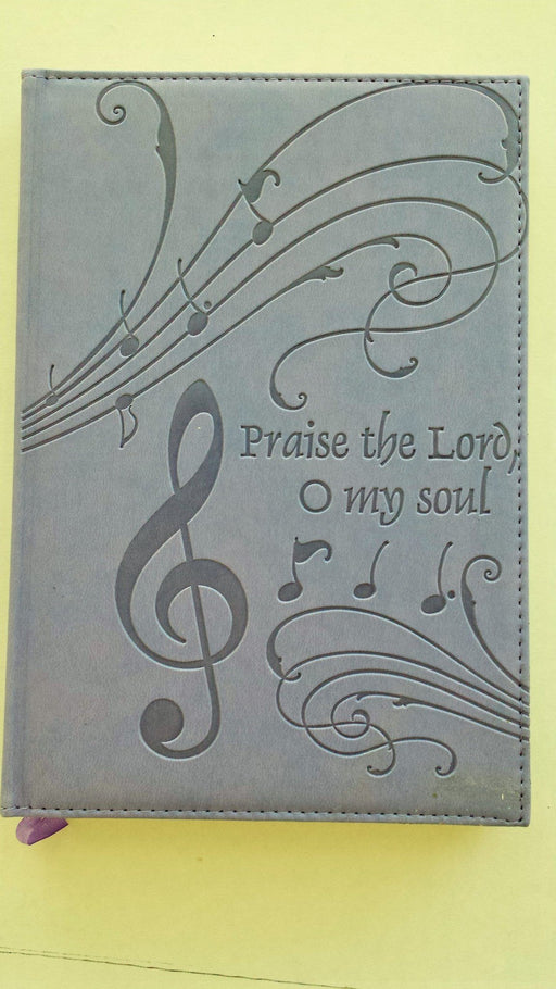 IMITATION LEATHER VIOLET JOURNAL - PRAISE THE LORD - Love the Lord Inc